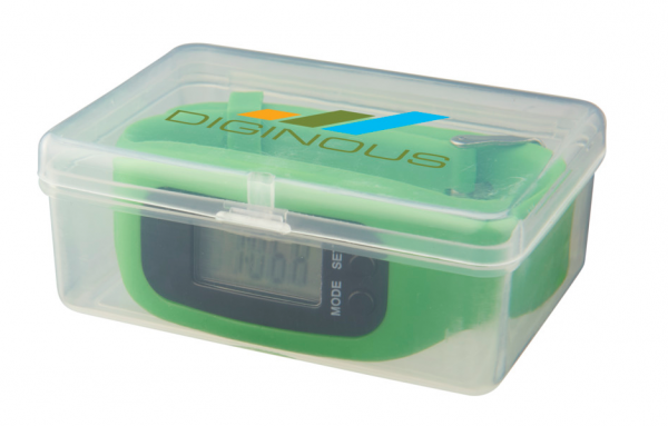 Watch pedometer in box