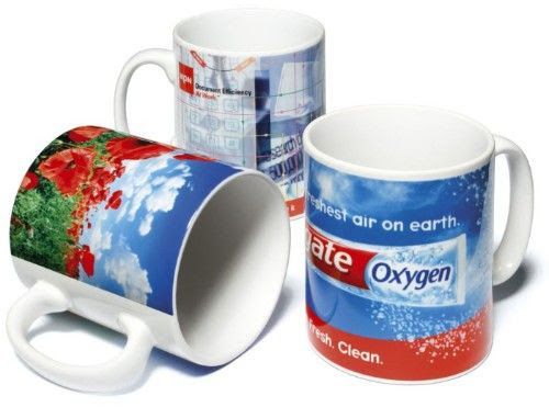 Dye sublimation mug with individual names
